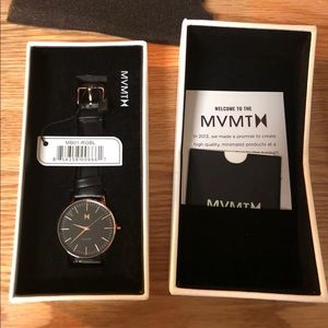 Brand New MVMT Rose Gold and Black Watch